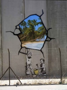Banksy on the West Bank Barrier, Palestine
